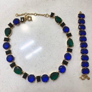 J.Crew Stone Necklace & Bracelet